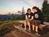 Annika und Arbeitskollegin  bei der erwähnten Sonnenaufgang-Wanderung