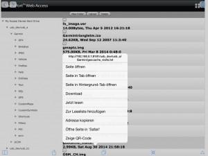 Download einer Datei mit iCab